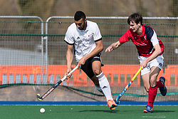 Cambridge City v Southgate - Men's Hockey League East Conference, Wilberforce Road, Cambridge, UK on 25 March 2018. Photo: Simon Parker