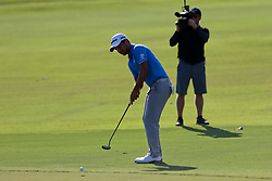 September 24, 2017 - Atlanta, Georgia, United States - Xander Schauffelle hits a fairway shot  on the 18th hole during the final round of the TOUR Championship at the East Lake Club. (Credit Image: © Debby Wong via ZUMA Wire)
