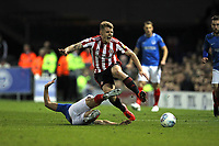 Football - 2018 / 2019 EFL Sky Bet League One - Play-Off Semi-Final,Second Leg: Portsmouth (0) vs. Sunderland (1)<br /> <br /> Portsmouth's James Vaughan fouls Max Power of Sunderland during the second leg of the League One play off semi final at Fratton Park  <br /> <br /> COLORSPORT/SHAUN BOGGUST