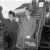 1962 -  Mr and Mrs Connor Cruise O'Brien return from honeymoon.