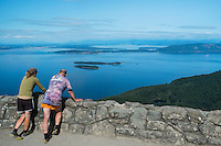 Man and Woman at Mount Constitution Scenic Overlook / Moran State Park, Orcas Island, Washington