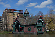 The Dana nature center at the Harlem Meer in Central Park.