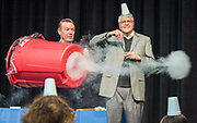 Steve Spangler conducts an experiment with R.T Garcia during the R.T. Garcia Early Childhood Winter Conference, January 26, 2019.