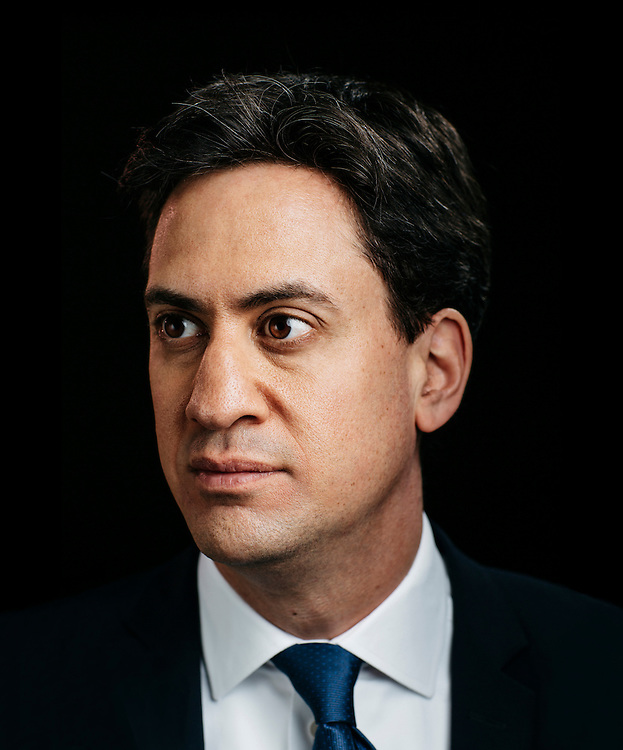 Former Labour Leader Ed Miliband photographed in London for the Financial Times on 3rd February 2015. Photo by Greg Funnell