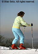 Outdoor recreation, Skiing, ski slopes, downhill skiing PA Ski Slopes, Downhill Skiers, Sking Single Female Skier