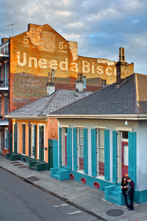 Louisiana, New Orleans, French Quarter, Dumaine Street, Uneeda Biscuit Sign