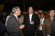 RUSSELL EDEY, DAVID CAMERON AND A. LEE, Launch of Tat Modern's rehang of its permanent Collection in partnership with UBS. Tate Modertn. 23 May 2006. ONE TIME USE ONLY - DO NOT ARCHIVE  © Copyright Photograph by Dafydd Jones 66 Stockwell Park Rd. London SW9 0DA Tel 020 7733 0108 www.dafjones.com