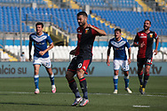 Genoa's Spanish striker Iago Falque celebrates after scoring from the penalty mark to reduce the arrears to 2-1 during the Serie A match at Stadio Mario Rigamonti, Brecsia. Picture date: 27th June 2020. Picture credit should read: Jonathan Moscrop/Sportimage