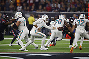 Miami Dolphins quarterback Brock Osweiler (8) in action during the NFL week 8 regular season football game against the Houston Texans on Thursday, Oct. 25, 2018 in Houston. The Texans won the game 42-23. (©Paul Anthony Spinelli)