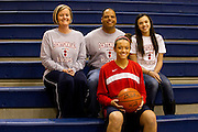 Frisco Centennial guard McKenzie Adams poses for a portrait with her parents Michelle and Gary and her younger sister Mallory before tipoff against Frisco Wakeland at Wakeland High School on Friday, January 25, 2013. (Cooper Neill/The Dallas Morning News)