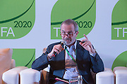 Peter Wheeler, Executive Vice President of The Nature Conservancy, shares the main highlights of the Financial Sector Engagement strategic initiative at the General Assembly of the Tropical Forest Alliance 2020 in Jakarta, Indonesia, on March 11, 2016. <br /> (Photo: Rodrigo Ordonez)