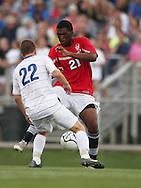 May 12, 2012; Huntsville, AL, USA;  Oak Mountain's Ryan Hall (21) controls the ball against Auburn's Bram Duke (22). Mandatory Credit: Marvin Gentry