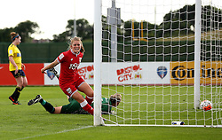 Millie Farrow of Bristol City Women celebrates scoring the opening goal against Oxford United Women - Mandatory by-line: Robbie Stephenson/JMP - 25/06/2016 - FOOTBALL - Stoke Gifford Stadium - Bristol, England - Bristol City Women v Oxford United Women - FA Women's Super League 2