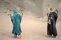 Mali - Bergers peuls dans les rues de Djenné