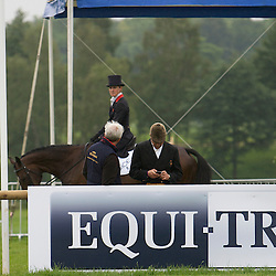 Kristina Cook riding Regal Red with Ian Stark and Andrew Nicholson