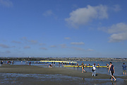 San Diego, California. USA. General Views, Crews boating from the beach. 2013 Crew Classic Regatta, Mission Bay.  16:30:15.  Saturday  06/04/2013   [Mandatory Credit. Peter Spurrier/Intersport Images]  ..