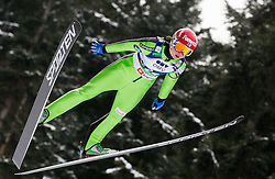Julia Kykkaenen of Finland during Normal Hill Individual Competition at FIS World Cup Ski jumping Ladies Ljubno 2012, on February 11, 2012 in Ljubno ob Savinji, Slovenia. (Photo By Vid Ponikvar / Sportida.com)
