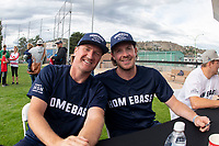 KELOWNA, CANADA - JUNE 28: Retired NHL player Scott Hartnell and NHL Nashville Predators player Ryan Johanson pose for a photo during the autograph session prior to the opening charity game of the Home Base Slo-Pitch Tournament fundraiser for the Kelowna General Hospital Foundation JoeAnna's House on June 28, 2019 at Elk's Stadium in Kelowna, British Columbia, Canada.  (Photo by Marissa Baecker/Shoot the Breeze)