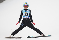 February 8, 2019 - Lidiia Iakovleva of Russia on first competition day of the FIS Ski Jumping World Cup Ladies Ljubno on February 8, 2019 in Ljubno, Slovenia. (Credit Image: © Rok Rakun/Pacific Press via ZUMA Wire)