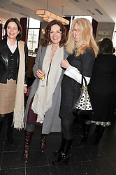 Left to right, WIGGS WYNDHAM and KATY BRAIN at a ladies lunch in support of Maggie's Barts hosted by Judy Naake, Clara Weatherall and Caroline Collins at Le Cafe Anglais, 8 Porchester Gardens, London W2 on 19th March 2013.