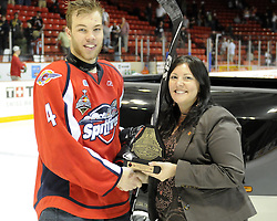 Taylor Hall of the Windsor Spitfires was the first star of Game 4 of the 2010 MasterCard Memorial Cup in Brandon, MB on Monday May 17. Photo by Aaron Bell/CHL Images
