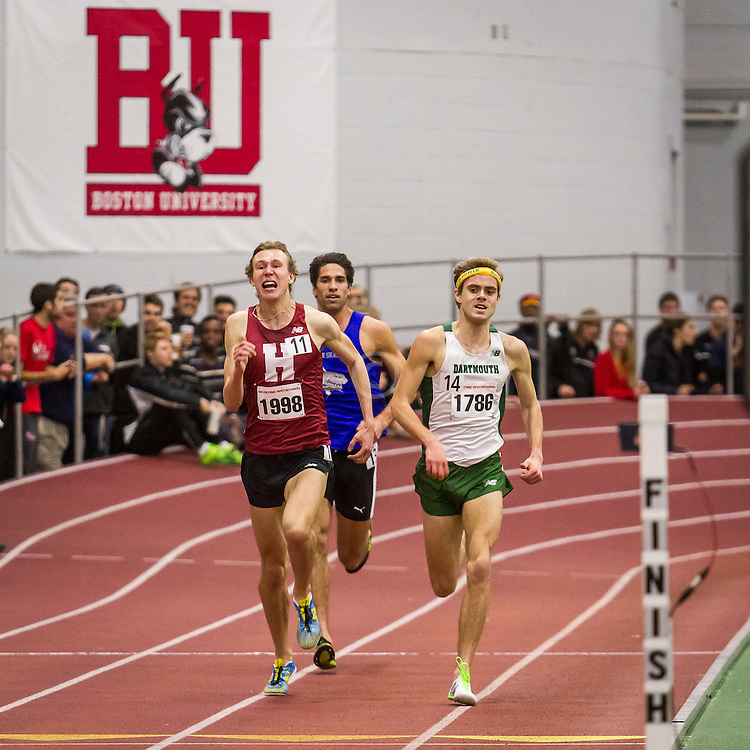 Boston University Valentine indoor track & field meet, Maksim Korolev nips Will Geoghegan in mens 3000 meters