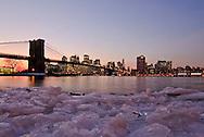 Brooklyn Bridge, Brooklyn Bridge Park, Main Street Section, Manhattan, Brooklyn, New York City, New York, USA