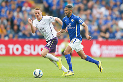 Riyad Mahrez of Leicester City is challenged by James McCarthy of Everton - Photo mandatory by-line: Rogan Thomson/JMP - Mobile: 07966 386802 16/08/2014 - SPORT - FOOTBALL - Leicester - King Power Stadium - Leicester City v Everton - Barclays Premier League