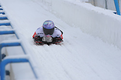 February 23, 2019 - Calgary, Alberta, Canada - Mirela Rahnev (Canada) finishes during BMW IBSF SKELETON WORLD CUP Calgary Canada 23.02.2019 (Credit Image: © Russian Look via ZUMA Wire)
