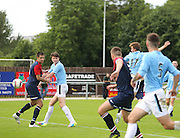 Matty Allan (#17) heads home to make the score 2-2 - Highland League Turriff United v Dundee under 20s - pre-season friendly at The Haughs, Turriff<br /> <br />  - &copy; David Young - www.davidyoungphoto.co.uk - email: davidyoungphoto@gmail.com