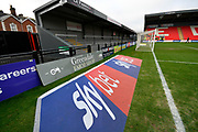 Sky Bet 3D advertising mat before the EFL Sky Bet League 2 match between Exeter City and Grimsby Town FC at St James' Park, Exeter, England on 29 December 2018.