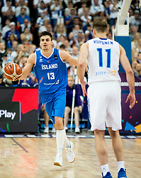 Hordur Vilhjalmsson of Iceland during basketball match between National Teams of Finland and Iceland at Day 7 of the FIBA EuroBasket 2017 at Hartwall Arena in Helsinki, Finland on September 6, 2017. Photo by Vid Ponikvar / Sportida