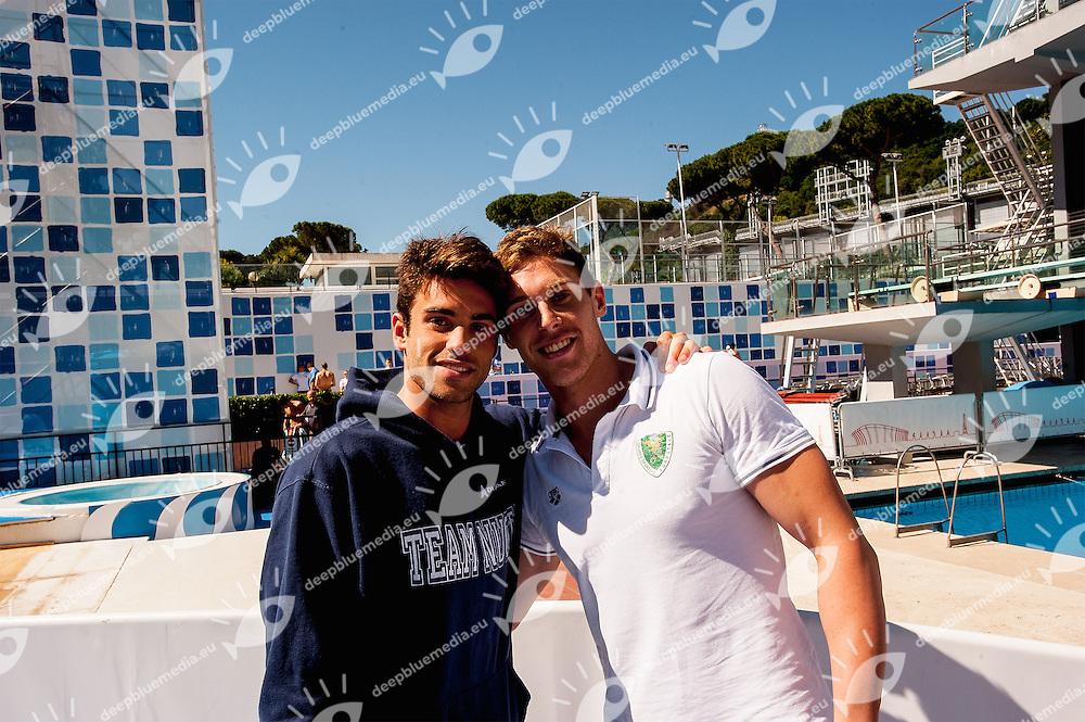Cova Davide, Ossola Nicolo<br /> 50 Settecolli Trofeo Internazionale di nuoto 2013<br /> swimming<br /> Roma, Foro Italico  12 - 15/06/2013<br /> Day01<br /> Photo Valeria Palma/Deepbluemedia/Insidefoto