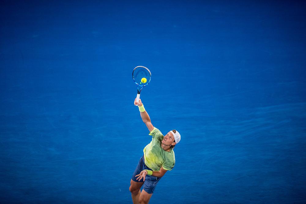 Tomas Berdych of the Czech Republic on day ten of the 2018 Australian Open in Melbourne Australia on Wednesday January 24, 2018.<br /> (Ben Solomon/Tennis Australia)