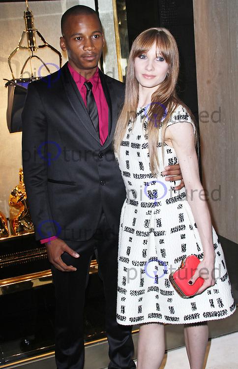 Eric Underwood & Melissa Hamilton, Fendi - Store Launch Party, New Bond Street, London UK, 01 May 2014, Photo by Brett D. Cove