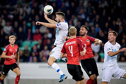 Andraž Šporar of Slovenia during the 2020 UEFA European Championships group G qualifying match between Slovenia and Austria at SRC Stozice on October 13, 2019 in Ljubljana, Slovenia. Photo by Sasa Pahic Szabo / Sportida