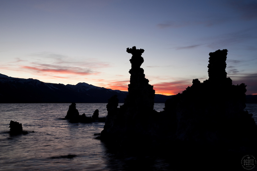 """Sunset at Mono Lake 9"" - These tufas were photographed at the South Tufa area in Mono Lake, California."