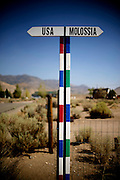 Photo by Matt Roth<br /> <br /> The Republic of Molossia is a tiny micronation run by fifty-one-year-old President Kevin Baugh an his family. The micronation is surrounded by Dayton, Nevada. <br /> <br /> Monday, August 12, 2013 XXXVI