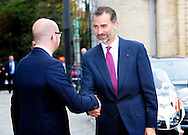 Brussels, 12-11-2014<br /> <br /> <br /> King Felipe and Queen Letizia of Spain are visiting Belgium.<br /> <br /> <br /> <br /> <br /> Photo: Bernard Ruebsamen/Royalportraits Europe