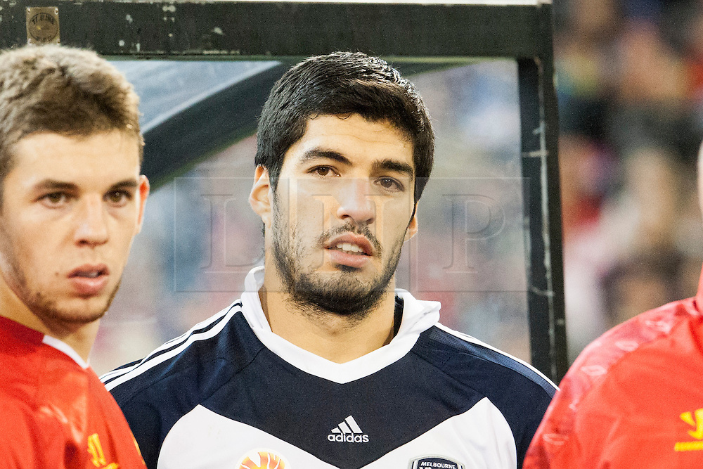 © Licensed to London News Pictures. 24/7/2013. Luis Suárez  during the Melbourne Victory Vs Liverpool F.C at the Melbourne Cricket Ground, Melbourne, Australia. Photo credit : Asanka Brendon Ratnayake/LNP