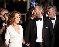 Actress Nathalie Baye and actor Vincent Cassel at the gala screening for the film It's Only the End of the World (Juste La Fin Du Monde) at the 69th Cannes Film Festival, Thursday 19th  May 2016, Cannes, France. Photography: Doreen Kennedy