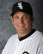 GLENDALE, AZ - MARCH 03:  Jeff Manto of the Chicago White Sox poses for his official team headshot during photo day on March 3, 2012 at The Ballpark at Camelback Ranch in Glendale, Arizona. (Photo by Ron Vesely)   Subject:   Jeff Manto