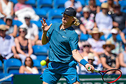 Denis Shapovalov of Canada during the Nature Valley International at Devonshire Park, Eastbourne, United Kingdom on 27 June 2018. Picture by Martin Cole.