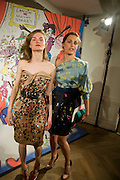 ANOUK LEPERE; YASMIN LE BON, BOTH WEARING LANVIN. The Launch of the Lanvin store on Mount St. Presentation and cocktails.  London. 26 March 2009