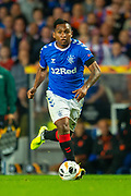 Alfredo Morelos (#20) of Rangers FC during the Europa League match between Rangers FC and Feyenoord Rotterdam at Ibrox Stadium, Glasgow, Scotland on 19 September 2019.