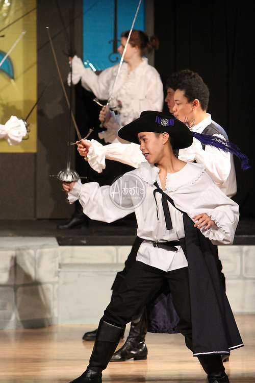 """O'Dea High School's production of """"The Three Musketeers"""" at Holy Names Academy Theater on February 26, 2011."""
