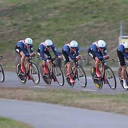 27-09-2016: Wielrennen: Olympia Tour: HardenbergHARDENBERG (NED) wielrennen <br /> Nederlands oudste wielerkoers ging van start in Hardenberg met een ploegentijdrit. Team USA wint de tijdrit. Colin Joyce pakte de eerste trui