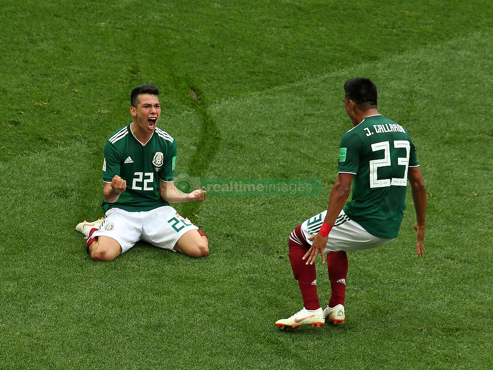 June 17, 2018 - Moscow, Russia - June 17, 2018, Russia, Moscow, FIFA World Cup, First round, Group F, Germany vs Mexico at the Luzhniki stadium. Player of the national team Irwin Rodrigo Lozano Baena, Jess Daniel Gallardo Vasconcelos (Credit Image: © Russian Look via ZUMA Wire)
