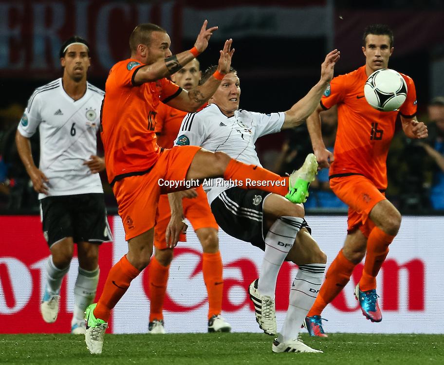 13.06.2012 Ukraine, Kharkiv : Ukraine, Kharkiv.  Netherlands national team and German national team in the group stage European Football Championship match between teams of the Netherlands and Germany.