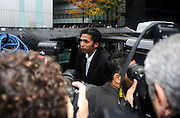 03/11/2011 - Pakistan cricketers match fixing sentence - Crown Court Southwark London - Mohammad Asif gets out a black cab and makes his way into court. - Photo: Charlie Crowhurst / Offside.